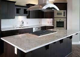 river white granite with dark cabinets white granite dark cabinets island with range breakfast bar the