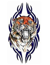 tiger and tribal design tattoo free design ideas