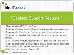 desktop support resume desktop support resume