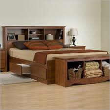 wood bed frame with drawers bed frame with drawers queen and bench bedroom ideas and