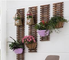 solid wood wall hanging flower shelf wall balcony decoration wall