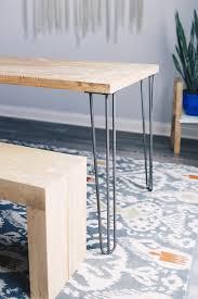 industrial hairpin leg desk 28 hairpin legs raw steel industrial by design