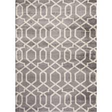 Modern Gray Rug Contemporary Modern Floral Flowers Gray 9 Ft X 12 Ft Area Rug