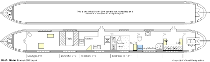 60ft canal boat interior layout sample narrow boat pinterest