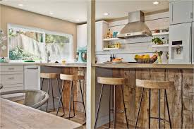 Rustic Kitchen Ideas - modern rustic kitchen lighting with wooden chairs and bar 4073