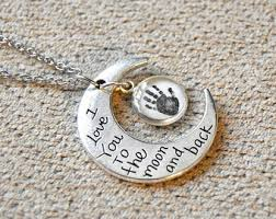 I Love You To The Moon And Back Personalized Necklace I Love You To The Moon And Back Print Etsy