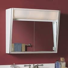 Bathroom Mirrored Cabinets With Lights Top Lighting Medicine Cabinets You Ll Wayfair