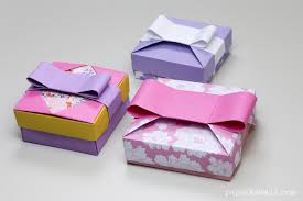 gift boxes with bow origami gift box mix match lids paper kawaii