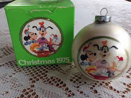 vintage disney christmas ornament 1975 mickey goofy donald duck w