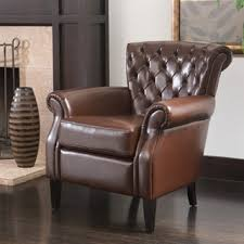 Tillo Top Grain Vintage Brown Leather Club Chair By Christopher
