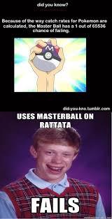 Poor Brian Meme - bad luck brian pokemon