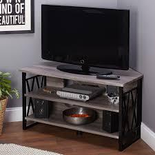Corner Wood Tv Stands Sauder 42 In Barrister Lane Corner Tv Stand Salt Oak Hayneedle