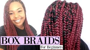 what kind hair use boxbraids diy box braids beginner friendly rubber band method youtube