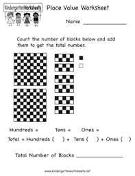 kindergarten place value worksheets free worksheets library
