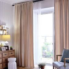 Striped Yellow Curtains Ivory Yellow Polyester Striped Jacquard Modern Curtains For Living