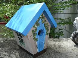 decorative bird houses for inside painted awesome house diy
