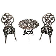 Cast Iron Bistro Table Outsunny 3 Outdoor Cast Iron Patio Furniture