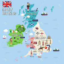 Great Britain World Map by Great Britain Picture Map Vector Royalty Free Cliparts Vectors