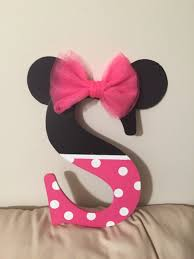 Pink And Black Minnie Mouse Decorations I Bought A Black Letter