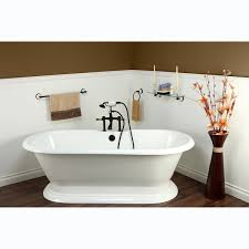 ended cast iron 72 inch pedestal bathtub with 7 inch