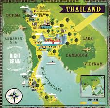 map of thailand thailand illustrated map