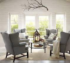 Upholstered Living Room Chairs Wingback Dining Room Chairs Ideas With White Fabric Chair Images