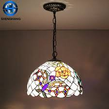 Wholesale Pendant Lighting Antique Tiffany Chandeliers Stained Glass Tiffany Hanging Lamp