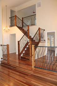 Wood Interior Handrails Hand Crafted Bent Iron Art Railing By Cam Harris Art Custommade Com