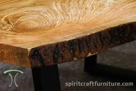 live edge table chicago honey locust live edge table with sanded bark on black steel legs