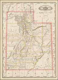 Utah County Map Railroad And County Map Of Utah Barry Lawrence Ruderman Antique