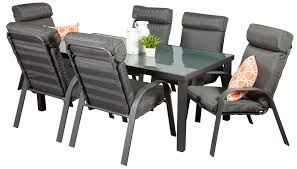 6 Seat Patio Dining Set Aluminium Outdoor Dining Sets Henley 6 Seater Segals Outdoor