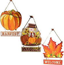 fall decoration hanging indoor outdoor welcome wood