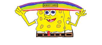 Spongebob Nobody Cares Meme - who cares meme spongebob otis from back at the barnyard cartoon