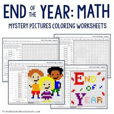 end of the year addition coloring worksheets printables u0026 worksheets