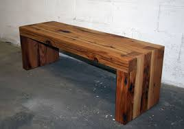 hand made reclaimed cedar box joint bench coffee table by