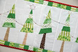decorations charming modern polyester kitchen christmas tree table runner green and white colors red polka dot