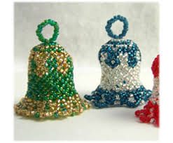 Easy Beaded Christmas Ornaments - christmas bell ornament sova enterprises