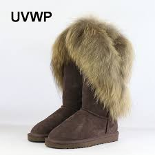 s boots with fur uvwp fashion fox fur s winter boots warm