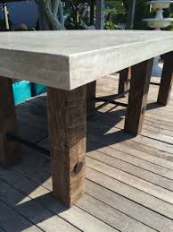 Nesting Dining Table Thick Concrete Top Dining Table Mecox Gardens