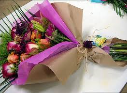 paper wrapped flowers kraft paper flower wrapping sheets for fresh flowers