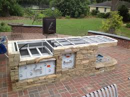 attractive build your own outdoor kitchen with building an wood