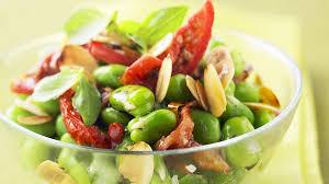 cuisiner feves recette salade express de fèves croquantes recettes les entrées