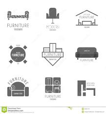 logo badge or label inspiration with furniture for shops