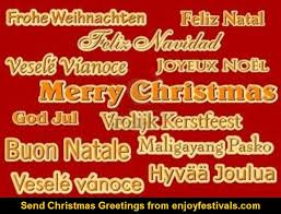 merry christmas happy christmas languages