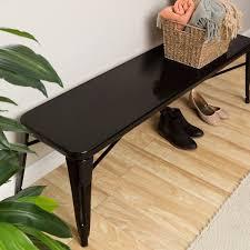 Black Indoor Bench - tabouret black metal indoor bench free shipping today