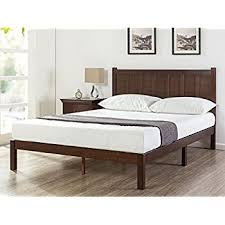 Bed With Headboard Zinus Wood Rustic Style Platform Bed With Headboard