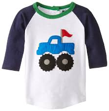 monster trucks in mud videos amazon com mud pie baby boys u0027 monster truck shirt blue small 18