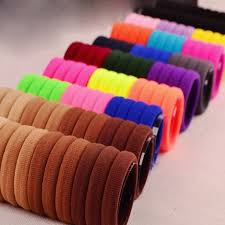 hair tie holder 50pcs elastic bands scrunchie hair tie ring rope hair ornaments