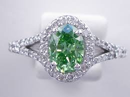 engagement rings green images 1 44 ctw oval cut diamond engagement ring vivid green vs2 gif