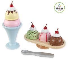 amazon com kidkraft wooden ice cream sundae set toys u0026 games